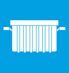 Garbage tank icon white vector