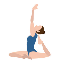 girl practicing yoga vector image