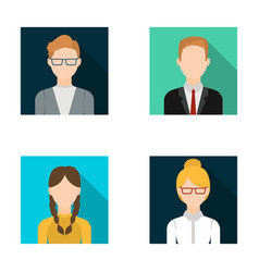 Girl with pigtails businessman businesswoman vector