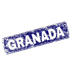 grunge granada framed rounded rectangle stamp vector image