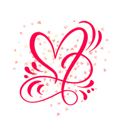 heart love sign romantic vector image