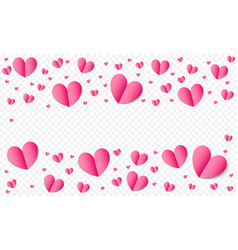 hearts pattern background for valentines day save vector image