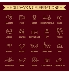 Holidays and celebrations Linear Yellow Cherry vector image