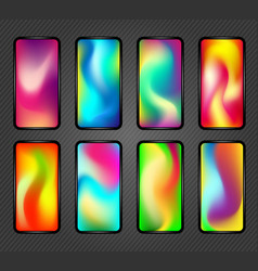 holographic screen gradients vector image
