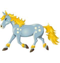 horse run vector image