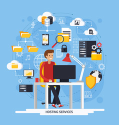 Hosting services concept vector