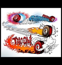 hot wheels vector image