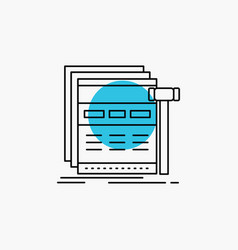 Internet page web webpage wireframe line icon vector
