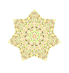 Isolated floral star shape - colorful design vector