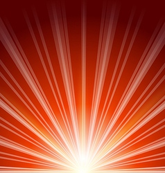 Lens flare with sunlight abstract background vector image