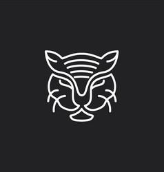 line art mono lion logo design inspiration vector image
