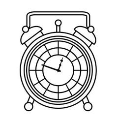 Line luxury desk clock object design vector