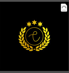 Luxury c initial logo or symbol business company vector