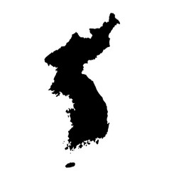 Map republic korea isolated vector