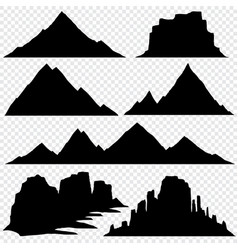 Mountain silhouette skyline panoramic view vector