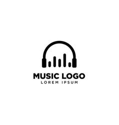 Music chart logo template icon logo design vector