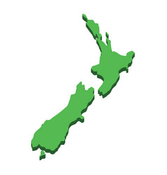 new zealand map silhouette new zealand island vector image