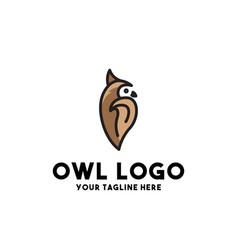 Owl logo modern concept design vector