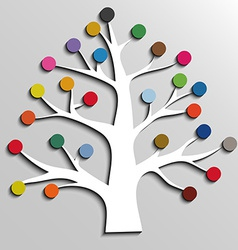 Paper tree with colorful circles infographic vector image