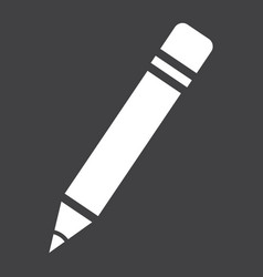 Pencil solid icon education and school vector