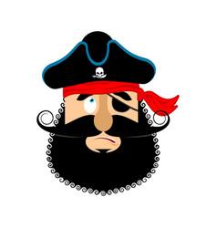 pirate guilty emoji head filibuster culpable vector image