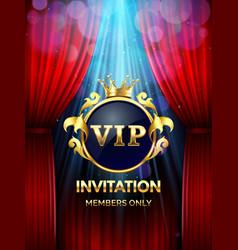 Premium invitation card vip party invite vector