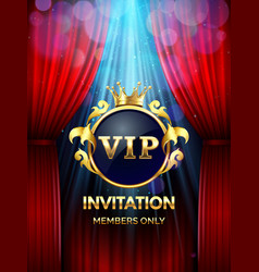 premium invitation card vip party invite with vector image