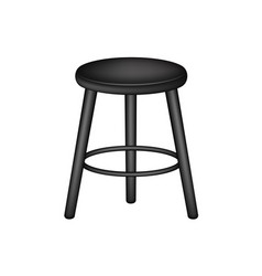 Retro stool in black design vector