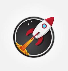 rocket icon logo vector image