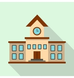 School building icon flat style vector image