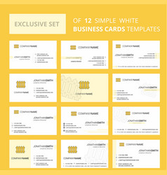 set of 12 boundary creative busienss card vector image