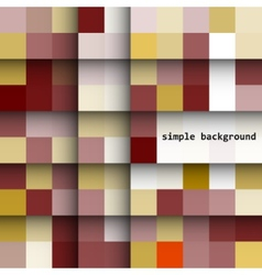 Simple background colored squares and shadows vector