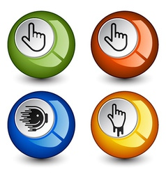 stylish round glossy buttons vector image