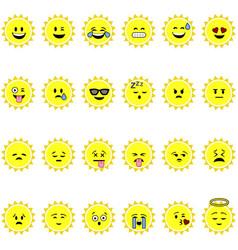 Sun emojis vector