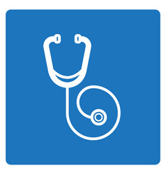 Thin line stethoscope icon vector