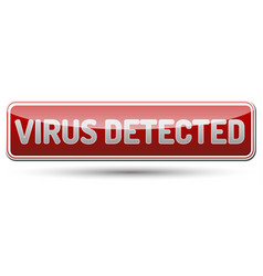Virus detected - glossy banner with shadow vector