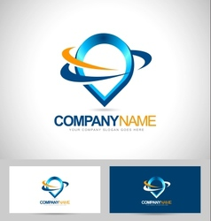 Water Drop Logo Design vector image