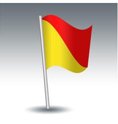 Waving maritime signal flag o oscar vector
