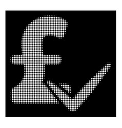 white halftone accept pound icon vector image