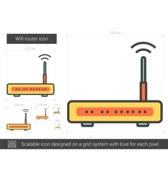 Wifi router line icon vector