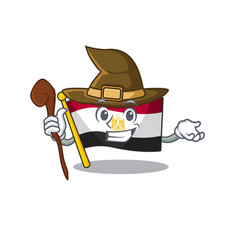 Witch flag egypt folded in mascot cupboard vector