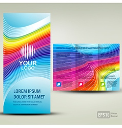 Brochure 3d line colorful vector image vector image