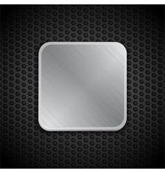 brushed metal tile background vector image vector image