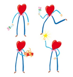 heart characters vector image