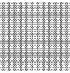 Light Gray striped knitted background vector image vector image