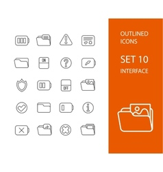 Outline icons thin flat design modern line stroke vector image vector image