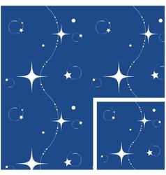 seamless christmas night background vector image