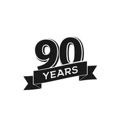 90 years anniversary logotype isolated vector image vector image