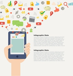 Element of Mobile application concept icon in flat vector image vector image