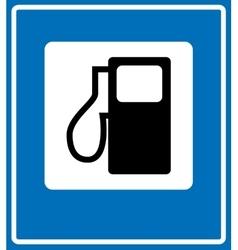 Fuel pump gas station icon vector image